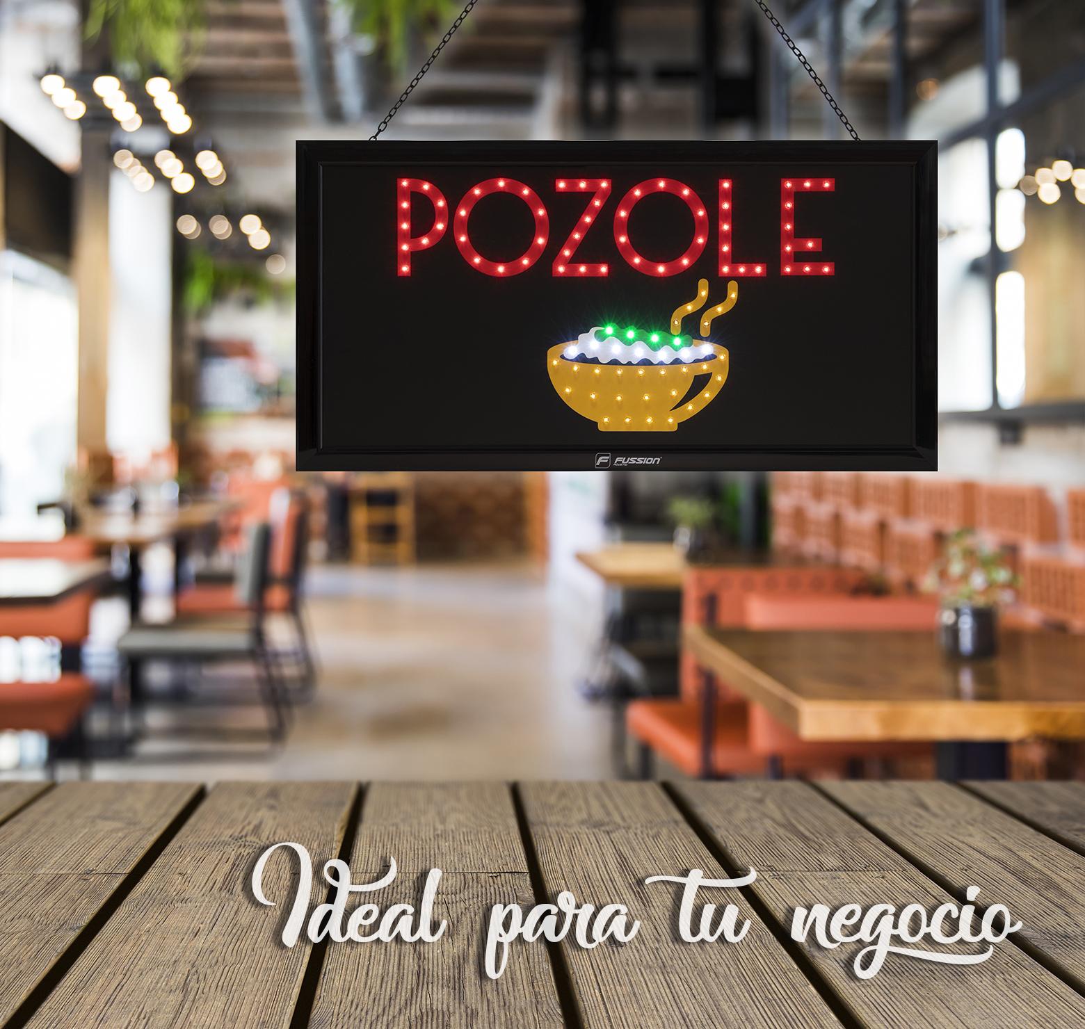 "Foto de ANUNCIO LUMINOSO LED ""POZOLE"" 94 LEDS"