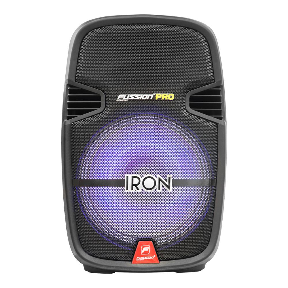 """Imagen de BAFLE AMPLIFICADO 15"""" 20 000 W PMPO/TWS/RECARGABLE/BT/FM/USB/MICRO SD/AUX/6.3 mm/RCA/LUZ LED/TRIPIÉ/"""
