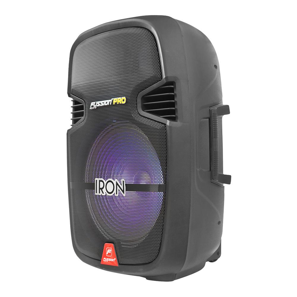 "Foto de BAFLE AMPLIFICADO 15"" 20000W PMPO RECARGABLE BLUETOOTH USB SD FM LED MIC ALAMBRICO TRIPIE"