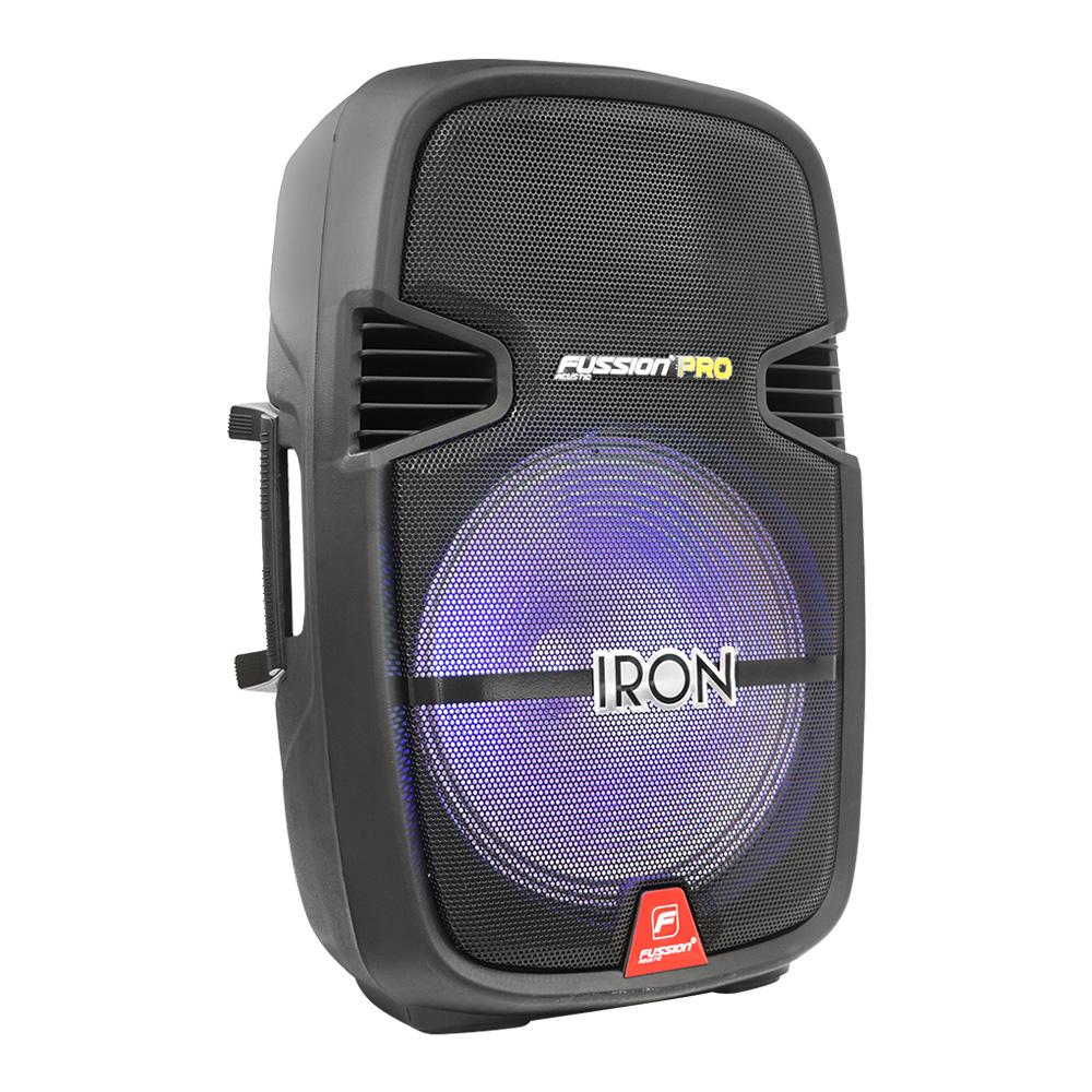 """Foto de BAFLE AMPLIFICADO 15"""" 20 000 W PMPO/TWS/RECARGABLE/BT/FM/USB/MICRO SD/AUX/6.3 mm/RCA/LUZ LED/TRIPIÉ/"""