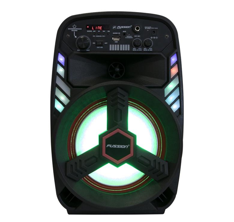 """Imagen de BAFLE AMPLIFICADO DE 8""""/6000W PMPO/BT/LUZ LED/CONTROL REMOTO/USB/MP3"""