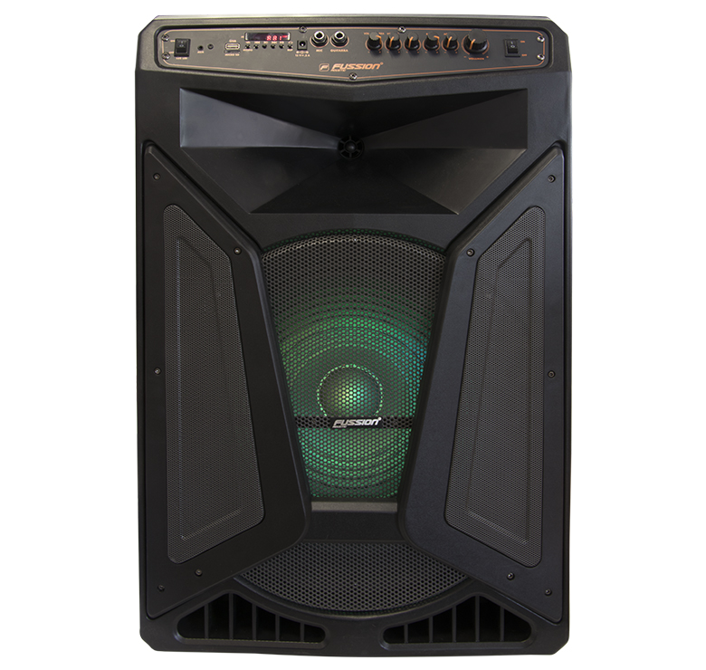 "Imagen de BAFLE AMPLIFICADO DE 15""25000W PMPO RECARGABLE BLUETOOTH USB SD FM LUZ LED MIC ALAMBRICO"