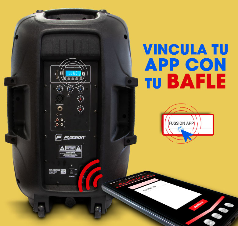 "Foto de BAFLE AMPLIFICADO DE 15""  15000W PMPO BLUETHOOT USB SD FM LUZ LED CON APP FUSSION"