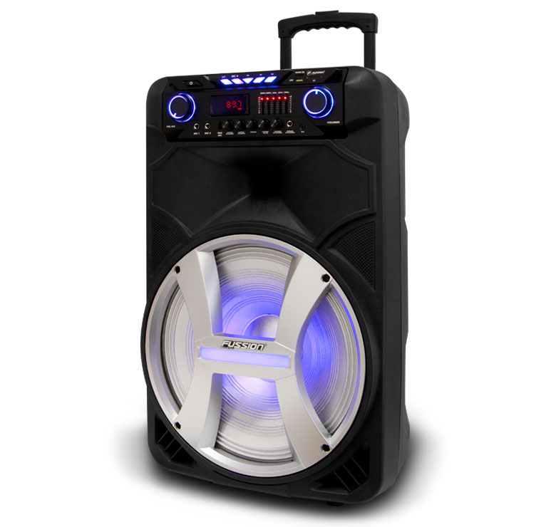 "Imagen de BAFLE AMPLIFICADO DE 15""  15000W PMPO  RECARGABLE  BLUETHOOT USB SD FM LUZ EQ 5B LED MIC INALAMBRICO"