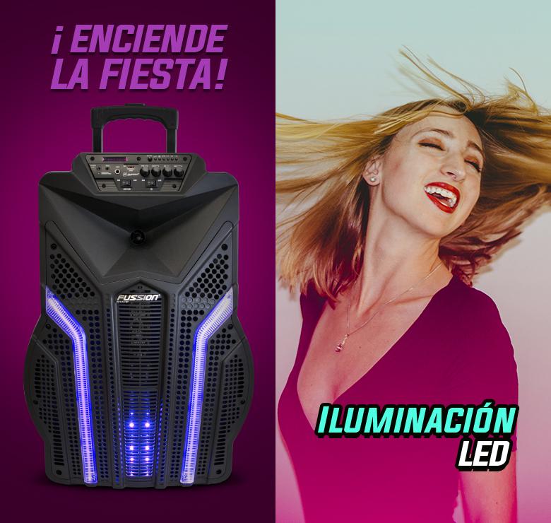 "Foto de BAFLE AMPLIFICADO DE 15""  15000W PMPO  RECARGABLE  BLUETHOOT USB SD FM LUZ EQ 5B LED MIC ALAMBRICO C"