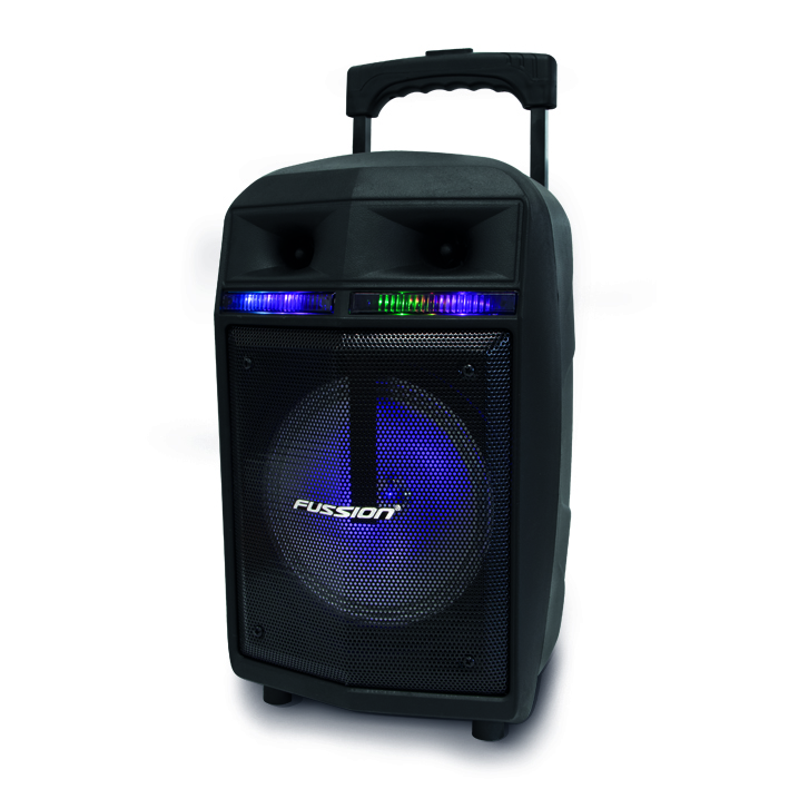 "Imagen de BAFLE AMPLIFICADO DE 8""   5000W PMPO RECARGABLE  BLUETHOOT USB SD FM  LUZ LED  MIC ALAMBRICO"