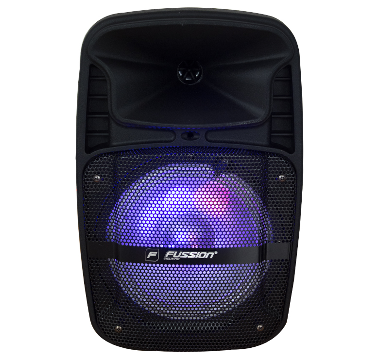 "Imagen de BAFLE AMPLIFICADO DE 8"" / 5,000W P.M.P.O. / BAT REC / BT / LUZ LED / MIC INALAMBRICO / USB / SD"
