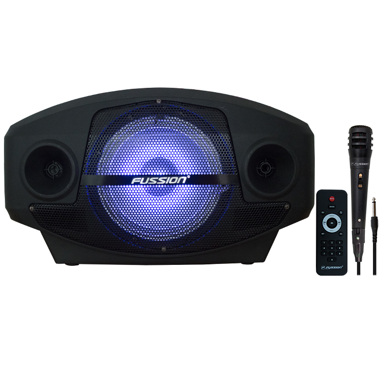"Imagen de BAFLE 8""/3000 PMPO/BT/USB/MP3/BT/SD/LUZ/FM/BAT REC/MIC INALAMBRICO"