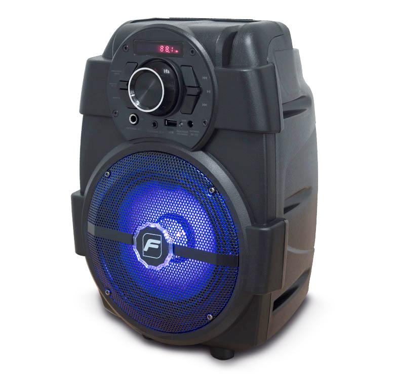 """Imagen de BAFLE AMPLIFICADO 6.5"""" 6 000 W PMPO/RECARGABLE/BT/FM/USB/MICRO SD/AUX/6.3 mm/LUZ LED"""