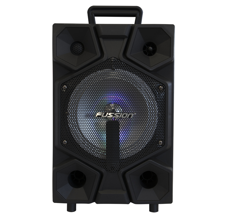 "Imagen de BAFLE AMPLIFICADO DE 8""/5000W PMPO/BAT RECARGABLE/BT/LUZ LED/CONTROL REMOTO/USB/MP3"