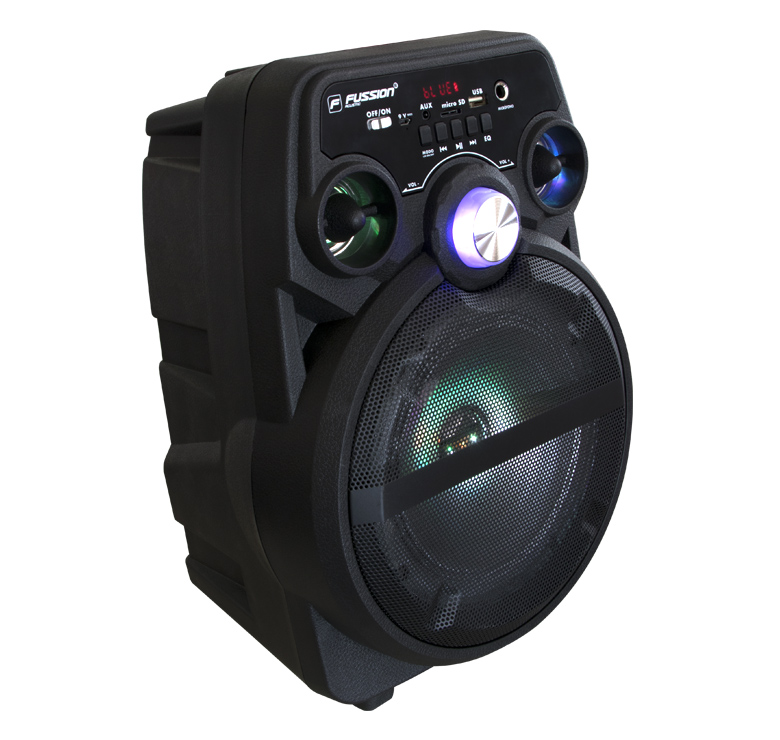 "Foto de BAFLE AMPLIFICADO DE 6.5""/7000W PMPO/BAT RECARGABLE/BT/LUZ LED/USB/MP3"