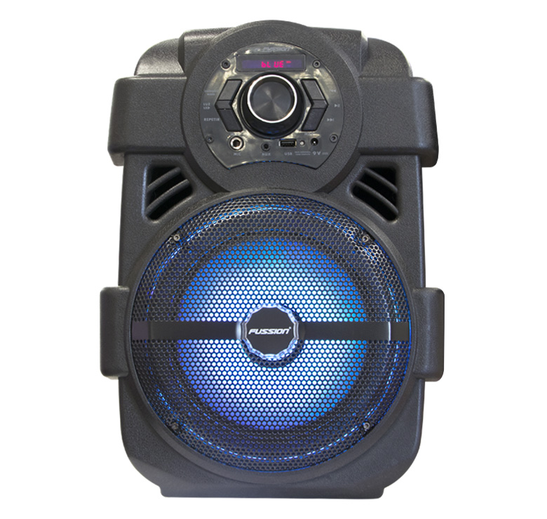 "Imagen de BAFLE AMPLIFICADO DE 8""/5000W PMPO/BAT RECARGABLE/BT/LUZ/LED/CONTROL REMOTO/USB/MP3"