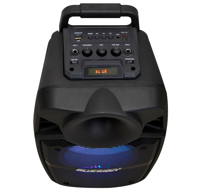 "Foto de BAFLE AMPLIFICADO DE 8""  + 1.5""  5000W PMPO RECARGABLE  BLUETHOOT USB SD FM  LUZ LED  MIC ALAMBRICO"