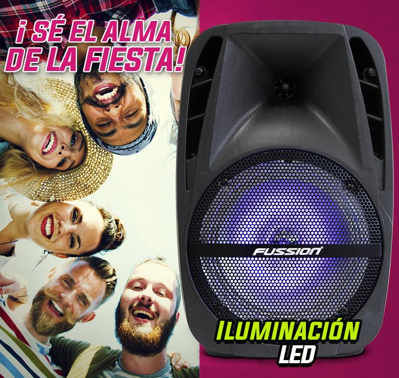 "Foto de BAFLE AMPLIFICADO DE 8""  5000W PMPO RECARGABLE  BLUETHOOT USB SD FM  LUZ LED"