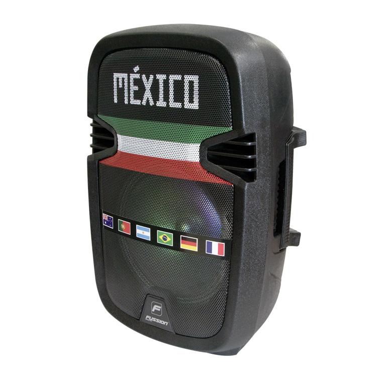 "Foto de BAFLE AMPLIFICADO DE 8""/5000W PMPO/RECARGABLE/BLUETOOTH/USB/SD/FM/LUZ LED/MIC ALAMBRICO/MEXICO"