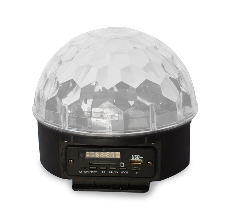 Imagen de REPRODUCTOR DIGITAL / LUZ LED RGBWYP / MP3 / USB / SD